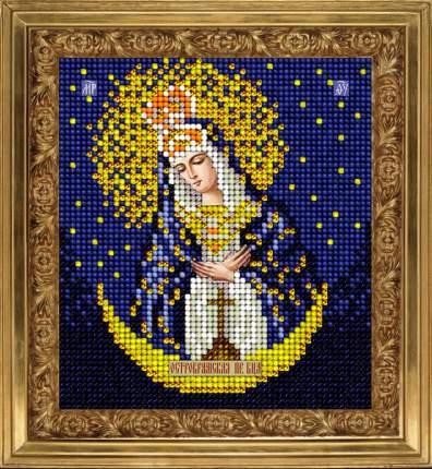 Набор Вышивание ювелирным бисером Краса и творчество 71213 Остробрамская икона 9,8х11 см