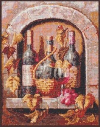 Набор для вышивания Палитра 04.004 Натюрморт с вином 26х32 см