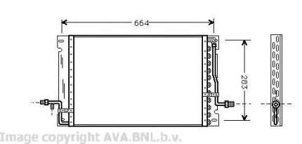 Радиатор кондиционера Ava VO5076