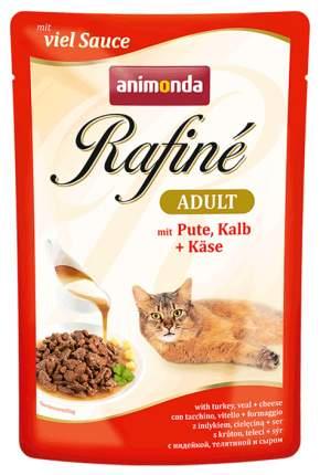 Влажный корм для кошек Animonda Rafine Adult, индейка, сыр, телятина, 24шт, 100г