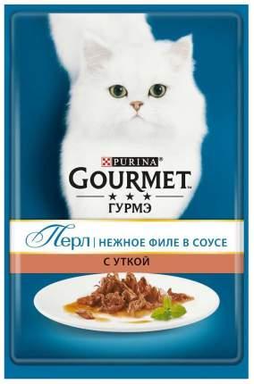 Влажный корм для кошек Gourmet Perle, утка, 24шт, 85г
