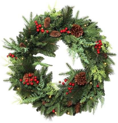 Декоративный венок с подсветкой Frank Рождество 06530