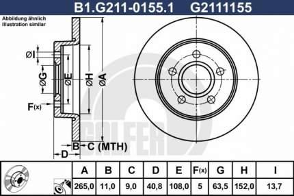 Тормозной диск GALFER B1.G211-0155.1