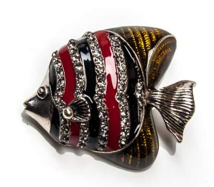 Брошь Moon Paris рыба-дискус со стразами (желтый)