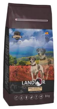 Сухой корм для собак Landor Adult Grain Free, беззерновой, ягненок и батат, 3кг