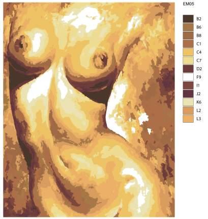 Картина по номерам, 40 x 50, EM05