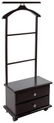 Вешалка напольная Мебелик с ящиками на колесах В 23Н Венге