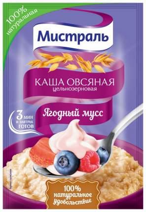 Овсяная каша Мистраль цельнозерновая ягодный мусс 40 г