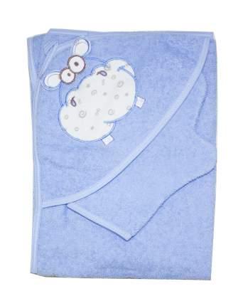 Полотенце-уголок Осьминожка с вышивкой Бегемот 100х100 см