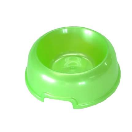 Одинарная миска для кошек и собак HOMEPET, пластик, зеленый, 0.2 л