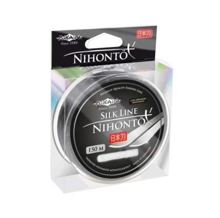 Леска монофильная Mikado Nihonto Silk Line 150 м серая 0,22 мм