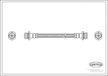 Шланг тормозной CORTECO 19032302