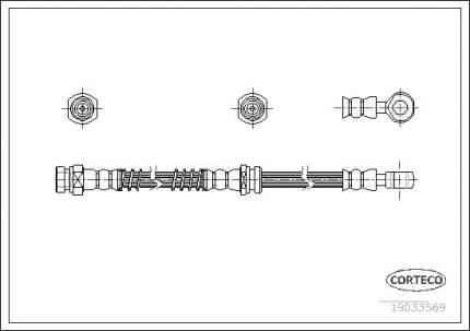 Шланг тормозной CORTECO 19033569