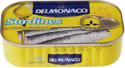 Сардины Delmonaco в растительном масле 125 г