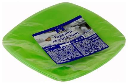 Набор одноразовых тарелок Horeca Select 180 мм Зеленый