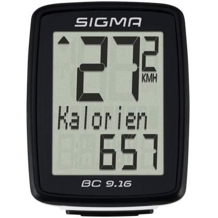 Велокомпьютер Sigma BC 9.16 черный