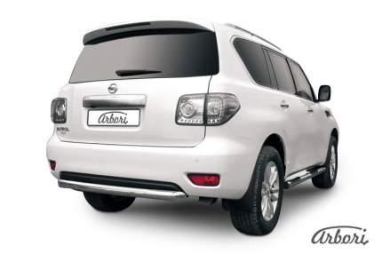 Защита заднего бампера d76 Arbori для Nissan PATROL 2012-2014