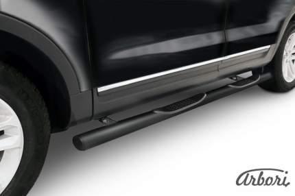 Защита пороговd 76 с проступями  Arbori черн. для Ford EXPLORER 2012-2015