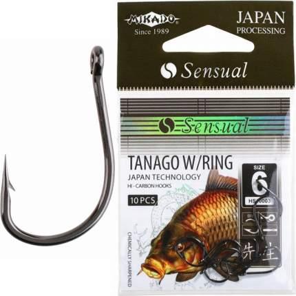 Рыболовные крючки Mikado Sensual Tanago W/Ring №6, 10 шт.