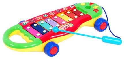 Ксилофон Shenzhen toys melody piano с синими колесами