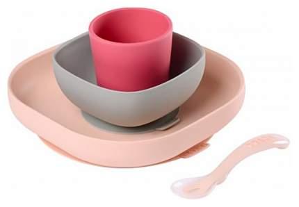 Набор детской посуды Beaba 913429 3 шт Розовый