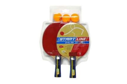 Набор для настольного тенниса Start Line Level 200, 2 ракетки и 3 мяча