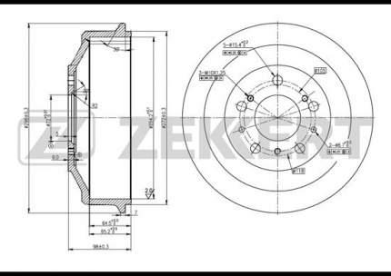 Тормозной барабан ZEKKERT BS-5097