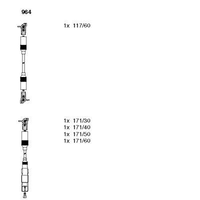 Комплект проводов зажигания BREMI 964