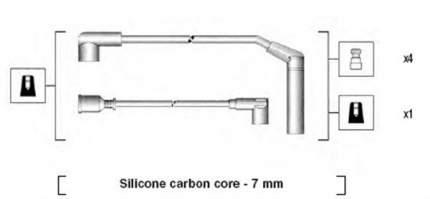 Комплект проводов зажигания MAGNETI MARELLI 941295040876