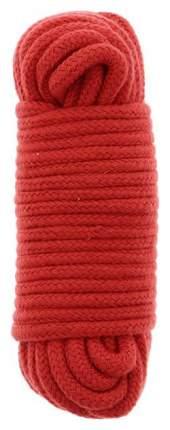 Веревка для шибари Dream Toys Bondx Love Rope хлопковая красная 10 м