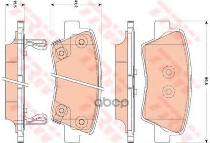 Комплект тормозных колодок TRW/Lucas GDB3494