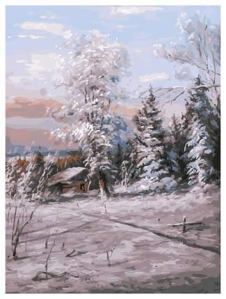 Живопись на холсте БЕЛОСНЕЖКА Зимний день, 30x40 см