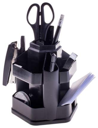"""Настольный органайзер """"Офисный"""", 13 предметов, вращающаяся подставка, черный"""
