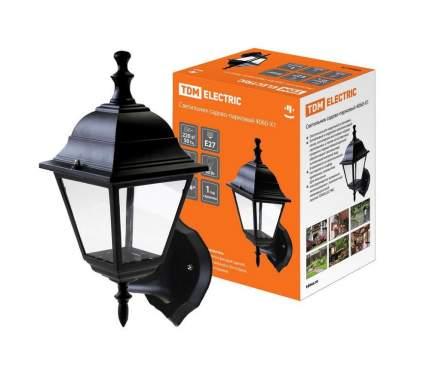 Светильник 4060-01 садово-парковый четырехгранник, 60Вт, вверх, черный TDM SQ0330-0021