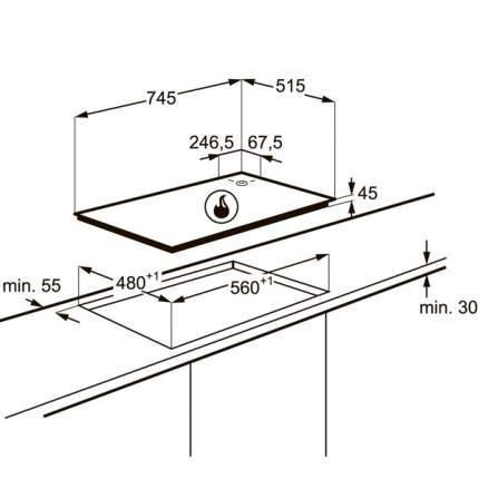 Встраиваемая варочная панель газовая Electrolux EGU97657NX Silver