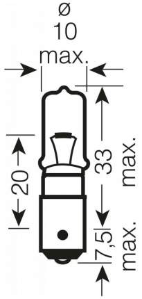Лампа накаливания автомобильная OSRAM H21W (64136)