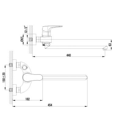 Смеситель универсальный LEMARK Shift LM4317C хром
