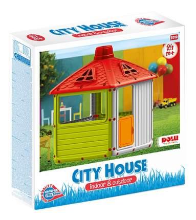 Игровой домик Dolu для улицы Городской дом зеленый