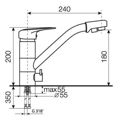 Смеситель для кухонной мойки LAVA SG07 LAV черный металлик