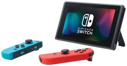 Портативная игровая консоль Nintendo Switch Red Blue + Splatoon 2