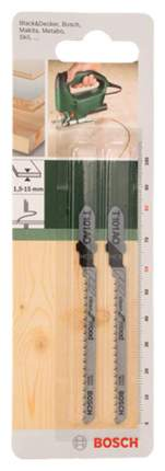 Набор пилок для лобзика Bosch T101AO HCS DIY 2609256723