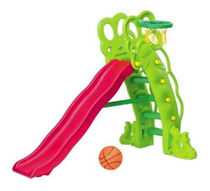 Горка детская Каскад + баскетбольное кольцо SL-11 КМС-Спорт