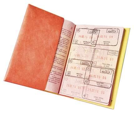 Обложка на паспорт NEW A NC-001 Желтый, красный