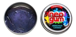 Игрушка-антистресс Neogum Жвачка для рук Небесный сапфир серия Супер Блеск