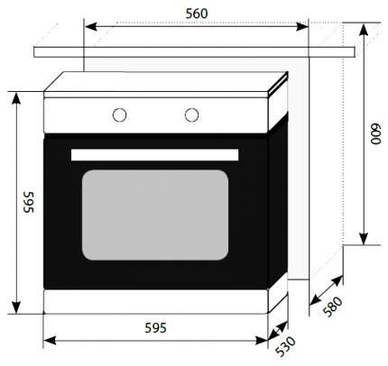 Встраиваемый электрический духовой шкаф LEX EDM 041 IX Silver