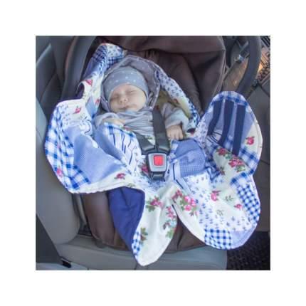 Конверт-трансформер для детской коляски Крошкин дом Бабушкин комод Солнце ОКка-С80 Синий