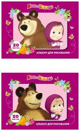 Альбом для рисования Росмэн «Маша и Медведь», 20 листов, А4 на скрепке