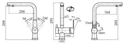 Смеситель для кухонной мойки Belbagno TANARO TAN-LACM-CRM хром