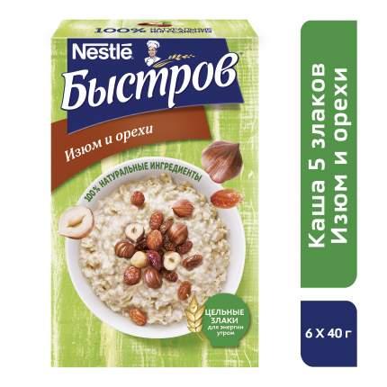 Каша Быстров 5 злаков изюм и орехи 240 г