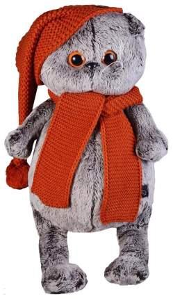Мягкая игрушка BUDI BASA Басик в вязаной шапке и шарфе, 25 см